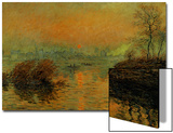 Setting Sun on the Seine at Lavacourt, Effect of Winter, 1880 Art by Claude Monet