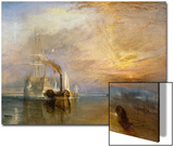 "The ""Fighting Temeraire"" Tugged to Her Last Berth to be Broken Up, Before 1839 Posters by J. M. W. Turner"