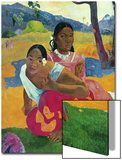Nafea Faaipoipo (When are You Getting Married), 1892 Art par Paul Gauguin