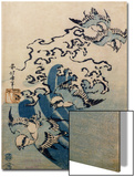 Waves and Birds, circa 1825 Prints by Katsushika Hokusai