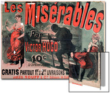 "Poster Advertising the Publication of ""Les Miserables"" by Victor Hugo 1886 Affiches par Jules Chéret"
