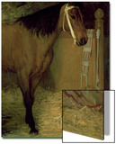 At the Stable, Horse and Dog, C.1862 Art by Edgar Degas