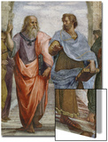 Aristotle and Plato: Detail of School of Athens, 1510-11 (Fresco) (Detail of 472) Art by  Raphael
