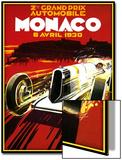Monaco Poster von Kate Ward Thacker