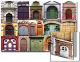 Collage Of The Ancient Unique Doors Prints by  plotnikov