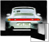 1993 Porsche 911 Rear Watercolor Posters by  NaxArt