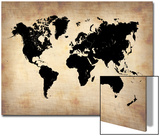 Vintage World Map Print by  NaxArt