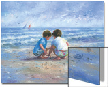 Finding Seashells Prints by Vickie Wade