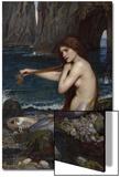 A Mermaid Affiches par John William Waterhouse