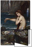 A Mermaid Prints by John William Waterhouse