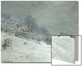 Landscape Around Honfleur, Snow, circa 1867 Prints by Claude Monet