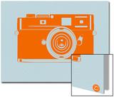 Orange Camera Prints by  NaxArt