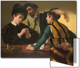 The Cardsharps Print by  Caravaggio