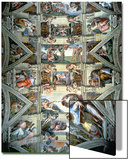 Sistine Chapel Ceiling and Lunettes, 1508-12 Art by  Michelangelo Buonarroti