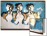 Minoan Ladies Mural Painting Fresco Posters by  Hannuviitanen
