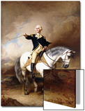 Portrait of George Washington Taking the Salute at Trenton Art by John Faed