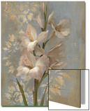 Gladiola on Soft Blue Poster by Silvia Vassileva
