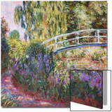The Japanese Bridge, Pond with Water Lilies, 1900 Prints by Claude Monet