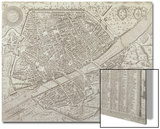 Map of Florence, 1595 Prints by Matteo Florimi