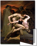 Dante and Virgil in Hell, 1850 Prints by William Adolphe Bouguereau
