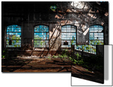 Abandoned Industrial Interior with Bright Light Posters by  maroti