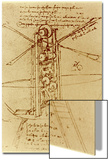 Drawing of a Flying Machine Posters by  Leonardo da Vinci