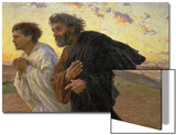 On the Morning of the Resurrection, the Disciples Peter and John on their Way to the Grave Posters by Eugene Burnand