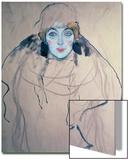 Head of a Woman Kunstdrucke von Gustav Klimt