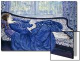 Girl in Blue, 1917 Posters by Frederick Carl Frieseke