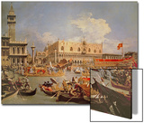 Return of the Bucintoro on Ascension Day Print by  Canaletto