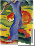 Cat Behind a Tree, 1910/11 Print by Franz Marc