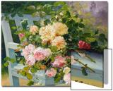 Romantic Roses Print by Eugene Henri Cauchois