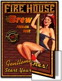 Fire House Brew Poster von Kate Ward Thacker