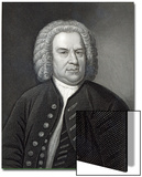 Portrait of Johann Sebastian Bach, German Composer (Engraving) Prints by Elias Gottleib Haussmann