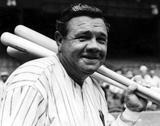 Babe Ruth Photo af Globe Photos LLC