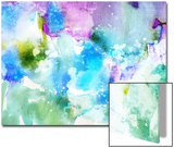 Vivid Abstract Ink Painting On Grunge Paper Texture Posters by  run4it