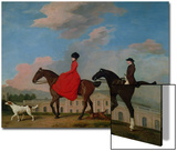 John and Sophia Musters Riding at Colwick Hall, 1777 Poster by George Stubbs