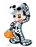 Disney Halloween Mickey Skeleton Cardboard Cutouts