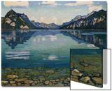 Thunersee with Reflection, 1904 Affischer av Ferdinand Hodler