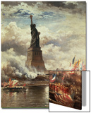 The Unveiling of the Statue of Liberty, Enlightening the World, 1886 Prints by Edward Moran
