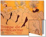 La Troupe De Mlle. Eglantine Print by Henri de Toulouse-Lautrec