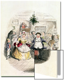 "Mr. Fezziwig's Ball, from ""A Christmas Carol"" by Charles Dickens (1812-70) 1843 Print by John Leech"