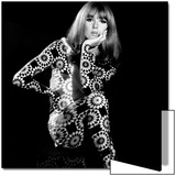 Circle Patterned Projection on Model with Hand on Face, 1960s Prints by John French