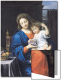 The Virgin of the Grapes, 1640-50 Art by Pierre Mignard