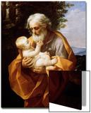 Saint Joseph with Infant Christ, 1620S Poster von Guido Reni