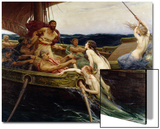 Ulysses and the Sirens, 1909 Prints by Herbert James Draper