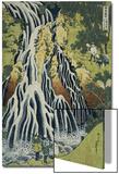 The Kirifuri Waterfall at Mt. Kurokami in Shimotsuke Province Poster von Katsushika Hokusai