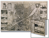Map of the City of Florence Posters by Wenceslaus Hollar