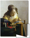 The Lacemaker, 1669-70 Print by Jan Vermeer