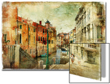 Romantic Venice - Artwork In Painting Style Poster by  Maugli-l